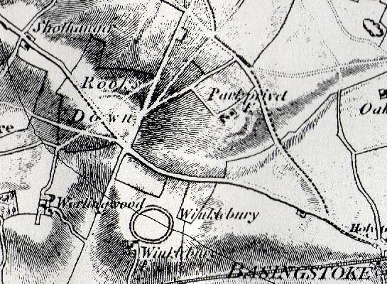 Rooksdown Map 1817
