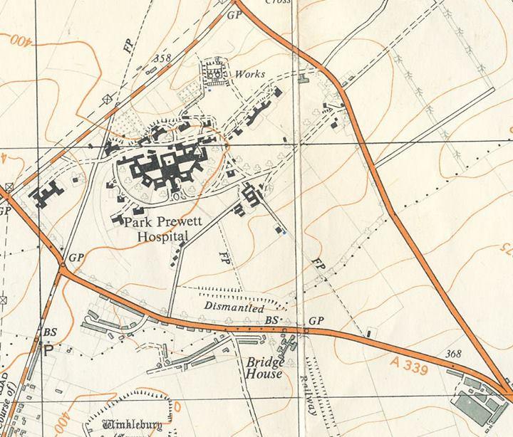 Rooksdown 1960s OS map