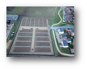 Sherborne Fields allotments aerial view