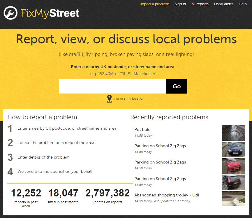 Fix My Street website screen shot